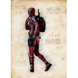 A3 Print - Deadpool multifärg
