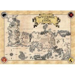 Pergament - Game Of Thrones - Map of Essos and Westeros multifärg