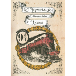 Pergament - Harry Potter - Hogwarts Express multifärg