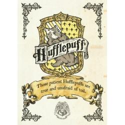 Pergament - Harry Potter - Hufflepuff Crest multifärg