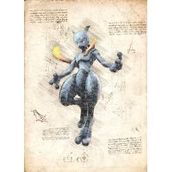 Pergament - Pokemon - Dark Mega Mewtwo multifärg