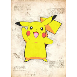 Pergament - Pokemon - Pikachu multifärg