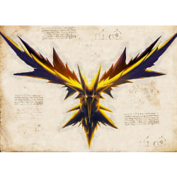 Pergament - Pokemon - Zapdos multifärg