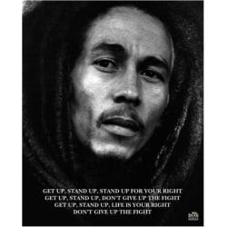 Poster - Bob Marley - Get up Stand up  multifärg