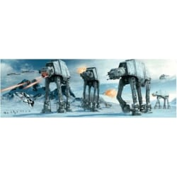 Poster - Star Wars - Hoth battle - ATAT multifärg