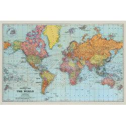 Stanfords General Map Of The World (Colour) - Världskarta multifärg