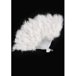 White Feathers Fan MultiColor