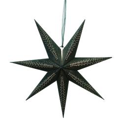 Adventsstjärna sammet stråla 75cm Färg: Grön grön