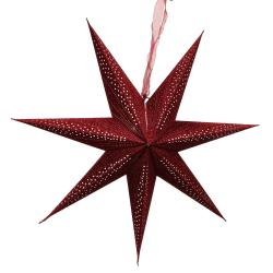 Adventsstjärna sammet stråla 75cm Färg: Röd röd