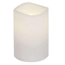 Batteridrivet ljus 7,5 x 11,5 cm vit i plast med timer