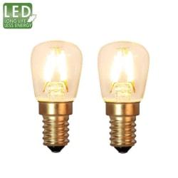 Decoration LED filament päronlampa E14 2100K 90lm 2-pack