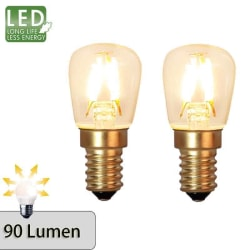 Decoration LED filament päronlampa E14 2100K 90lm 2-pack