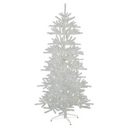 Glitter konstgran/plastgran 210cm vit