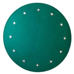 Granmatta grön Ø 100cm 12 LED