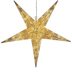 Gyllene stjärna 75cm inne och ute 72LED