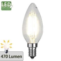 Illumination LED kronljus filament lampa E14 2700K 470lm