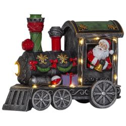 Julby Dekorativt tåg med jultomte