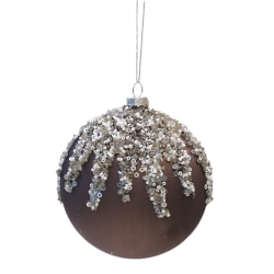 Julgransdekoration med strass och pärlor 4-pack