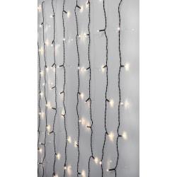 Serie LED ljusgardin 120 LED 1,3x2 meter Crispy Ice White