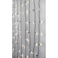 Serie LED ljusgardin 120 LED 1,3x2 meter Färg: Crispy Ice White vit