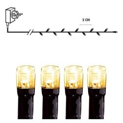 Serie LED ljusslinga kluster 540 ljus extra varmvit vit 10 m