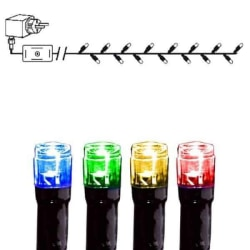 Serie LED ljusslinga med 8 funktioner 120 ljus multi flerfärgad 7 m