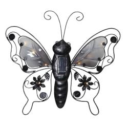 Solcellsdekoration fjäril 39cm
