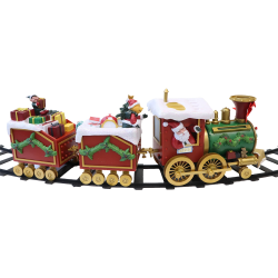 Tågbana runt julgran batteridriven med musik och LED