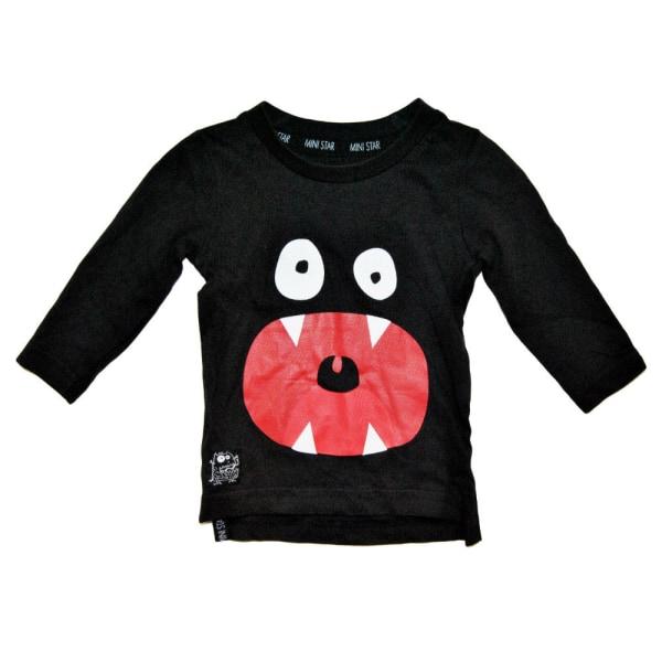 Långärmad t-shirt med tryck Black 80