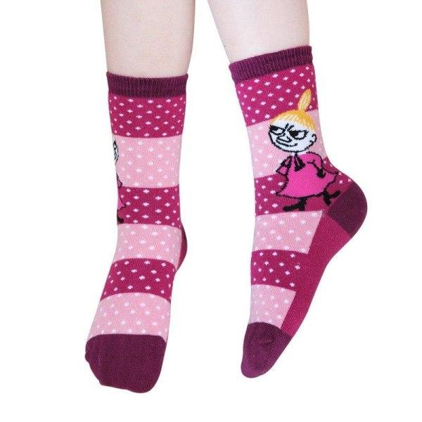 Mumin Nöje-strumpor 3 st rosa Pink 27-30, 27-30