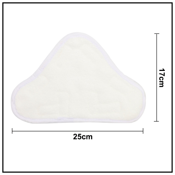 6 X White Washable Steam Cleaning Mop Pads Microfiber