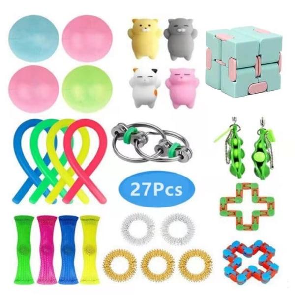 27-Pack Fidget Toys - Stressboll, Bönor