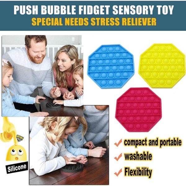 Pop it Fidget Toys - LILA Bubble Push Pop Leksak CE Lila