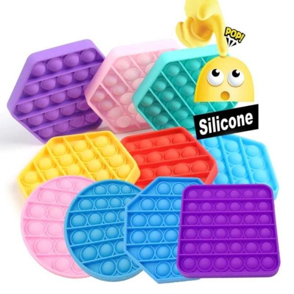 Pop it Leksak Fidget Toys - Bubbla Push Pop - Olika Färger Purple FYRKANT - LILA