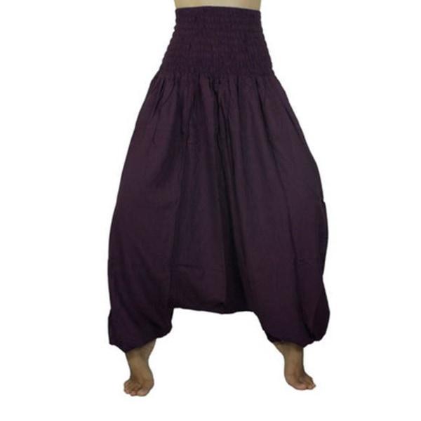 ABSOLUT4U  Harems byxa oriental yoga dans nöje. Plommon one size