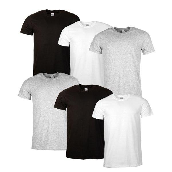 ZAALAC T-shirt  enfärgade utan tryck 6 pack  MultiColor S