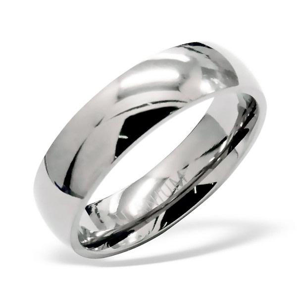 Zaalac Titanium slät högglanspolered ring 19,0 mm US/CAN 9