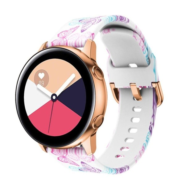 20mm Samsung Galaxy Watch Active pattern silicone watch band
