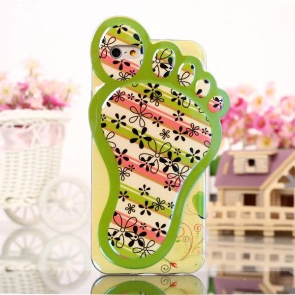 3D Foot (Blomster & Ränder) iPhone 6 Skal