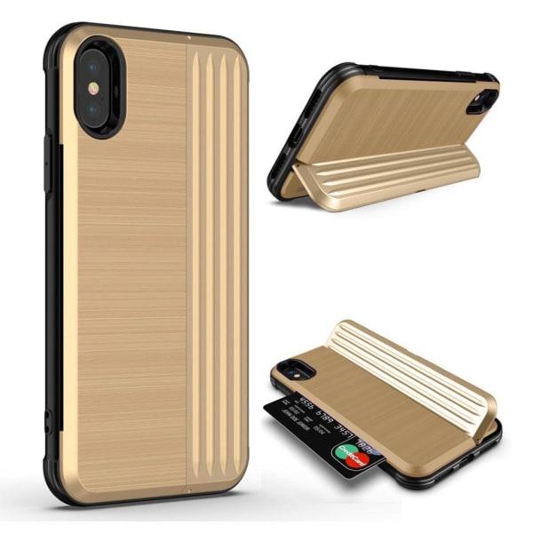 ANGIBABE iPhone Xr mobilskal silikon plast stående kortficka