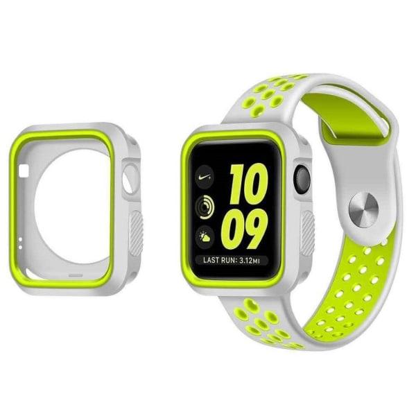 Apple Watch 38mm Miljövänligt skal - Vit grön