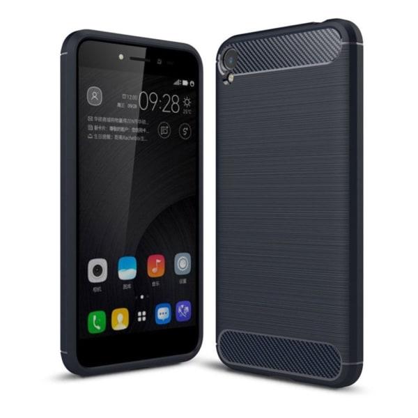 Asus ZenFone Live (ZB501KL) Skal med karbonfiber design - Mö