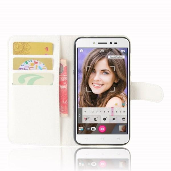 Asus ZenFone Live (ZB501KL) Skinn fodral - Vit