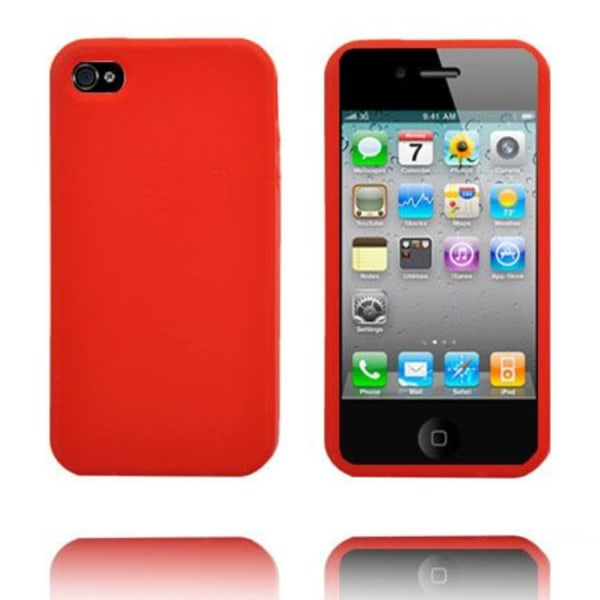 Candy Colors (Röd) iPhone 4S Silikonskal
