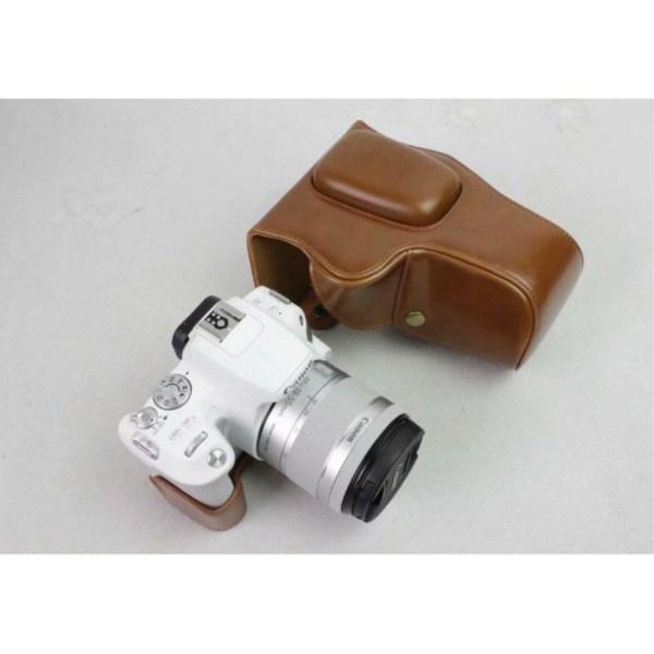 Canon EOS 200D kameraskydd avtagbar rem linsväska syntetläde
