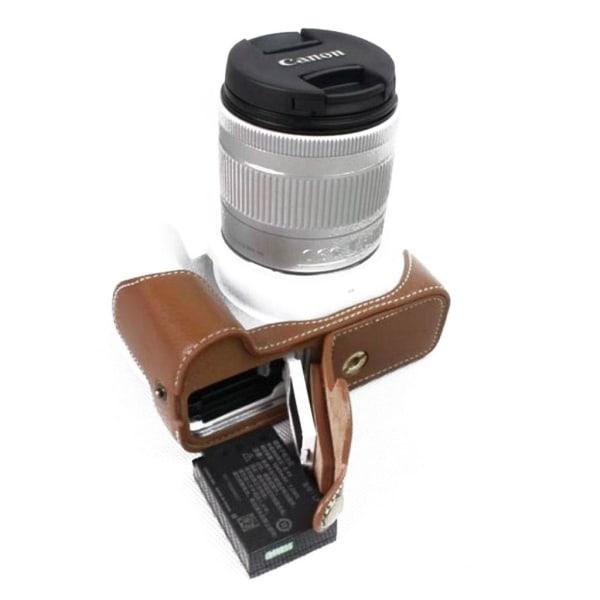 Canon EOS 200D kameraskydd underdelen äkta läder - Brun