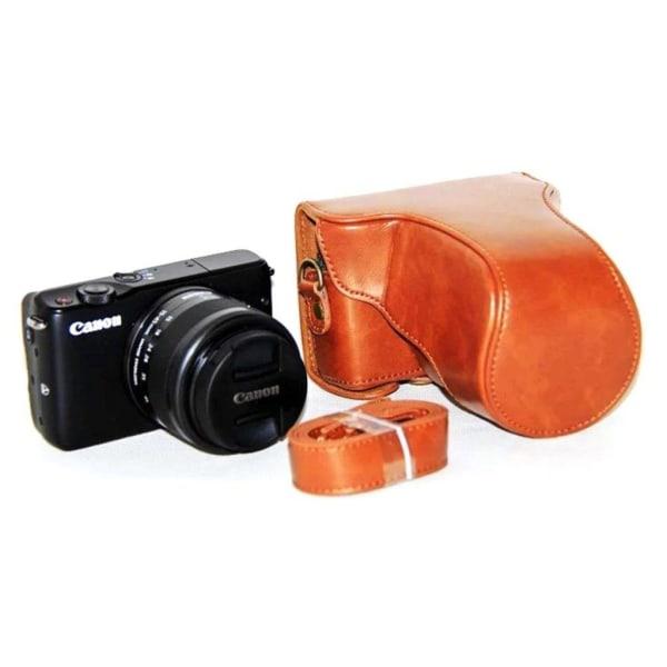 Canon EOSMEOSM2EOSM10 Läckert skydd i läder - Ljus brun