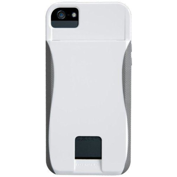 Case-Mate Pop Case för iPhone 5S (Vit/Titanium)
