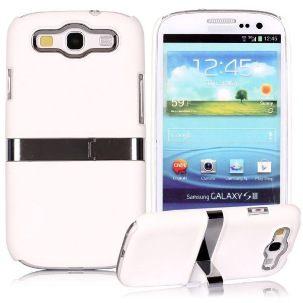 Chrome Kick-Stand (White) Samsung Galaxy S3 Case