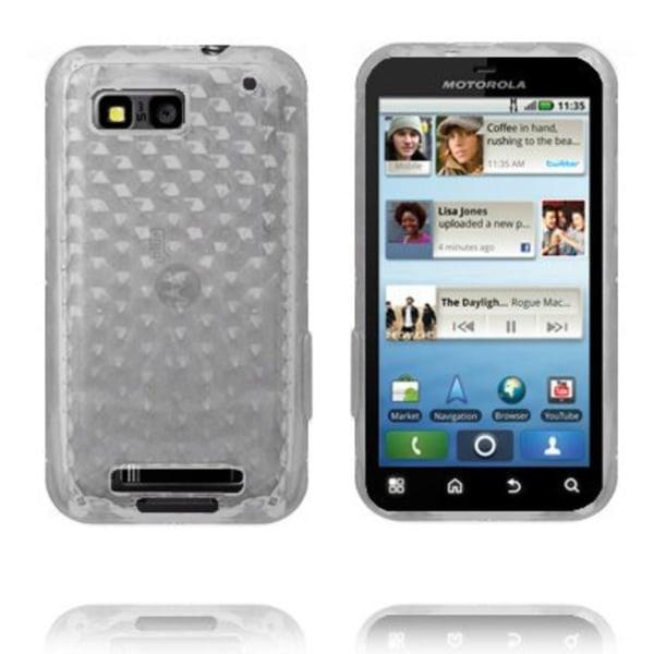 Cubes (Vit Transparent) Motorola Defy Skal